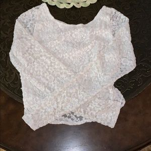 A lace crop top from Abercrombie and Fitch.